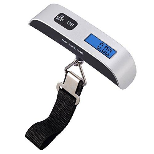 AMIR ラゲッジチェッカー 吊りはかり 最大50kg スーツケース用計量器 吊り下げ式 スケール 旅行はかり デジタル はかり 小型 軽量 旅行 アウトドア 家庭用 携帯式デジタル 風袋引き機能