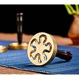 銅製香篆香 拓香印香模 香道用具用品 打拓香模香 灰押灰压 (雪の花4.5cm)