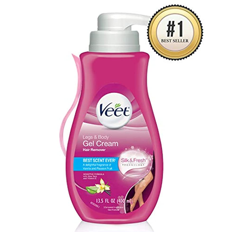重なる汚れた解くVEET. Hair Removal Gel Cream Pump: Sensitive Formula (並行輸入品)