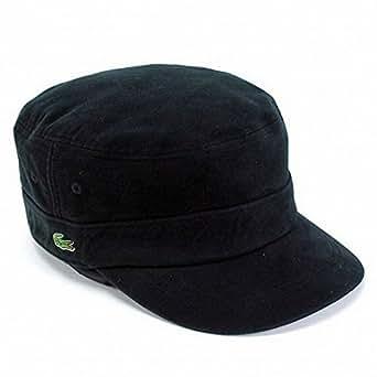 帽子 メンズ ワークキャップ メンズ 帽子 ラコステ コットン起毛 シンプルデザイン / ブラック