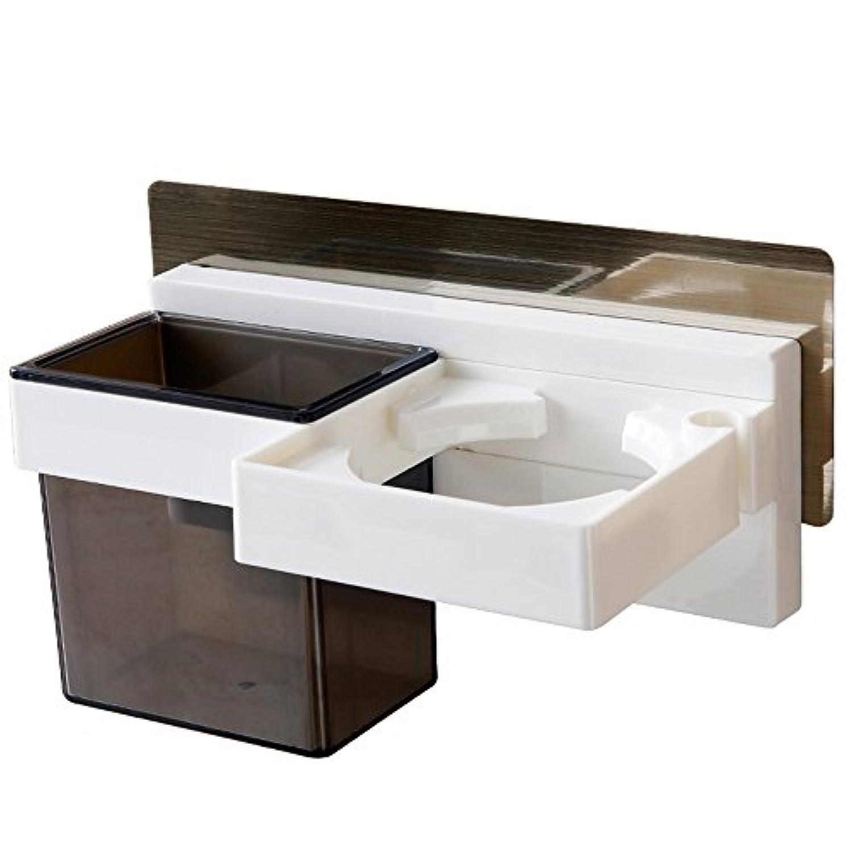 HAIZHEN 浴室用ラック ヘアドライヤーラックプラスチック材料クリエイティブウォールマウント便利で実用的 インストールが簡単