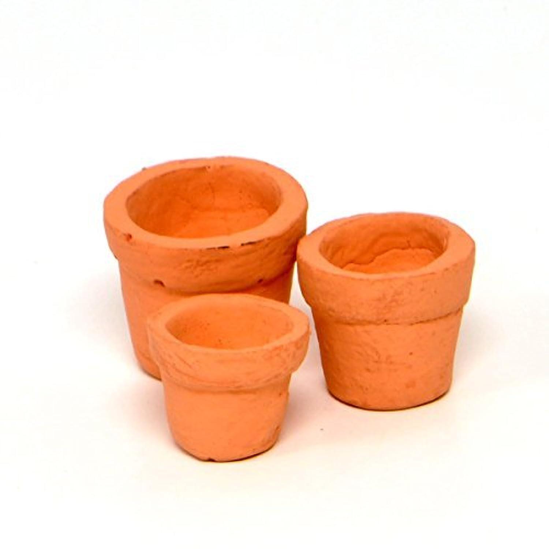 [ Jeremy ] Jeremie Miniature Fairy Garden Tiny Pots Set of 3 1312918 [並行輸入品]