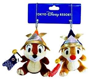 五月人形 ディズニー 兜を被ったチップ&デールの5月人形のぬいぐるみバッチ 東京ディズニーリゾート