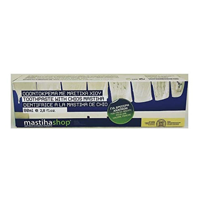 使用法怒る素晴らしいですマスティハ 歯磨き粉 フレッシュブレス 80ml