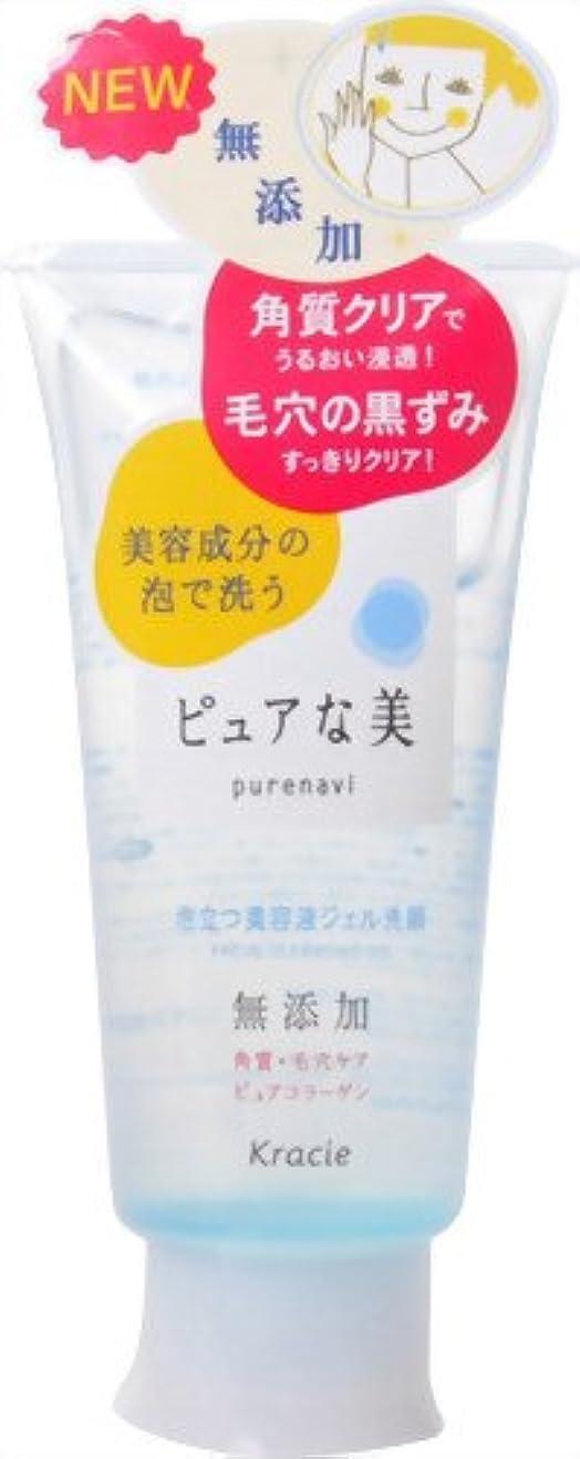 従来のケイ素弁護ピュアな美 泡立つ美容液ジェル洗顔 120g