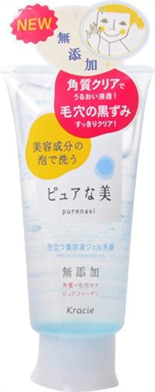 洗剤佐賀禁止するピュアな美 泡立つ美容液ジェル洗顔 120g