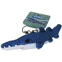 オレンジ サメ ぬいぐるみ 携帯ストラップ ノコギリザメ 鮫 8.5cm 2014112