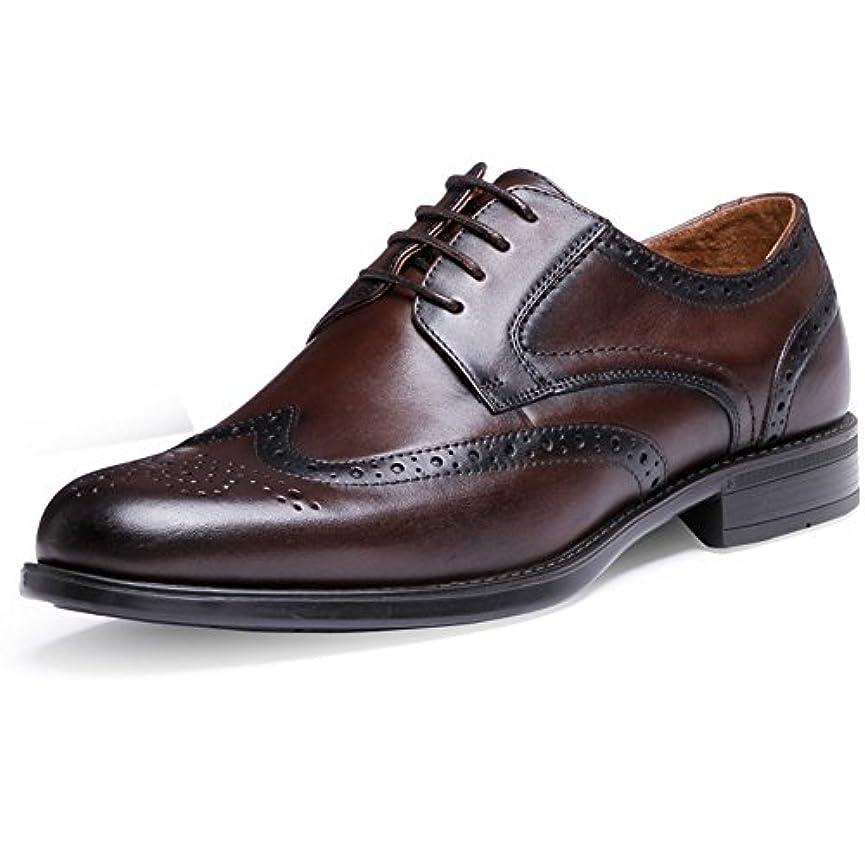 感謝文芸認識Rabiya ビジネスシューズ メンズ 本革 カジュアルシューズ ウイングチップ 外羽根 革靴 紳士靴