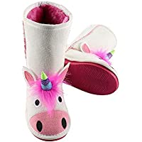 bc0ba24dcf0a LazyOne Childrens Kids Unicorn Toasty Toez Slippers