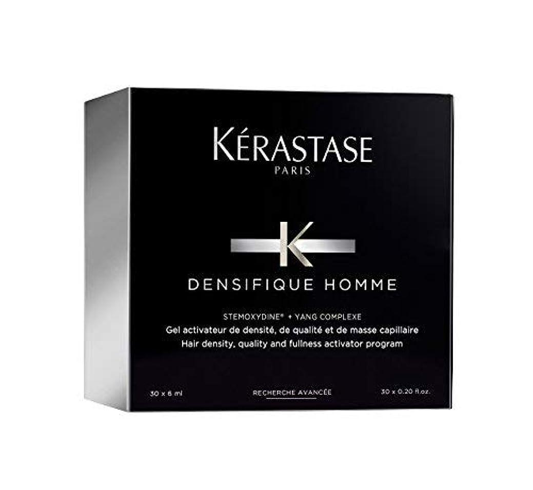 アウター拡声器楕円形ケラスターゼ Densifique Homme Hair Density and Fullness Programme 30x6ml