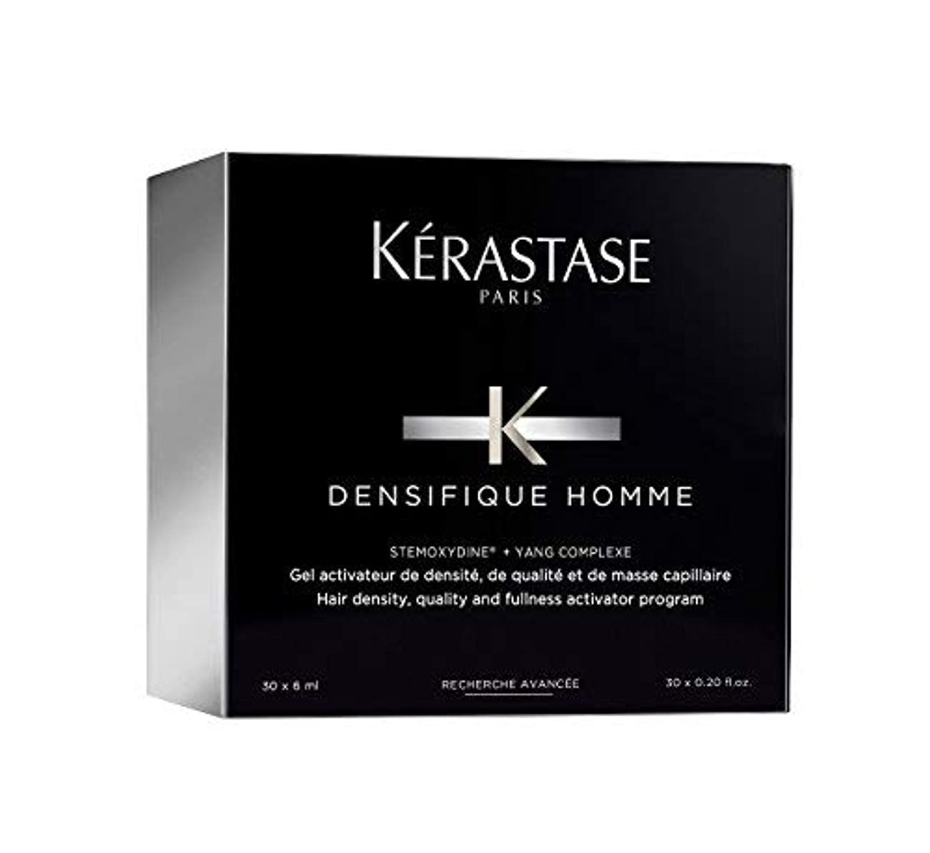 挨拶する慣性どこケラスターゼ Densifique Homme Hair Density and Fullness Programme 30x6ml