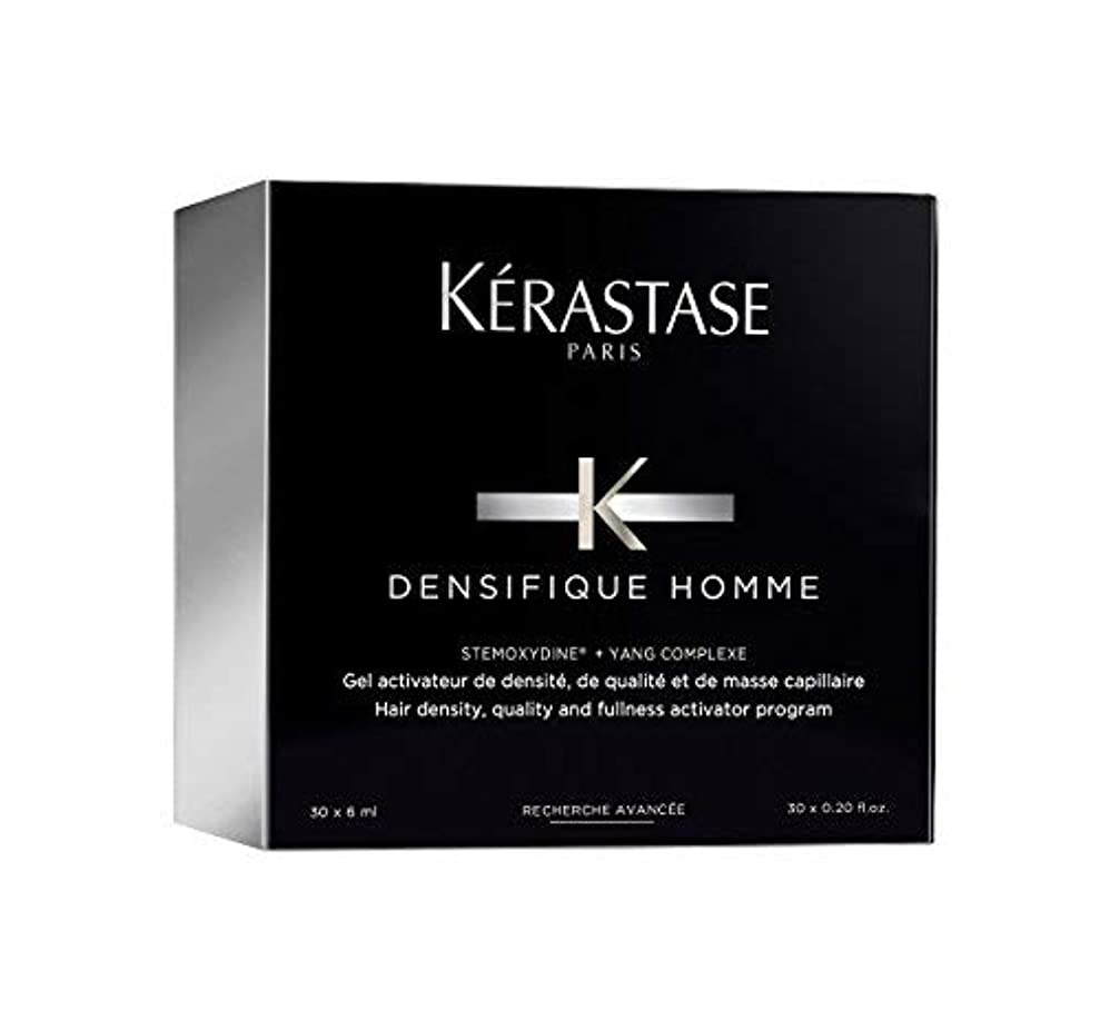 ペースト社交的野心的ケラスターゼ Densifique Homme Hair Density and Fullness Programme 30x6ml