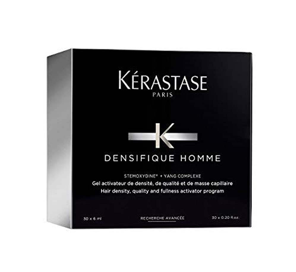 マラウイ無条件手数料ケラスターゼ Densifique Homme Hair Density and Fullness Programme 30x6ml