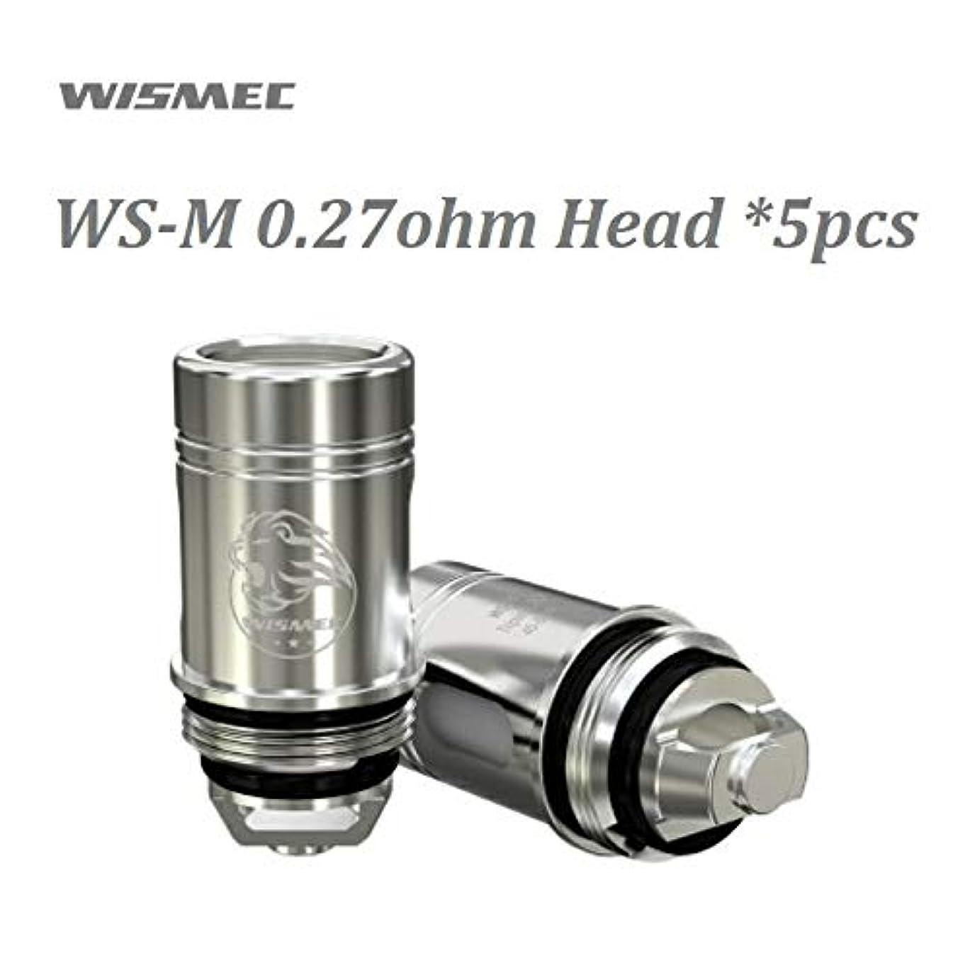 エスニック該当する荒れ地WISMEC WS-M 0.27ohm Head 5pcs ウィズメックWS-M 0.27Ωメッシュコイル 5個入り