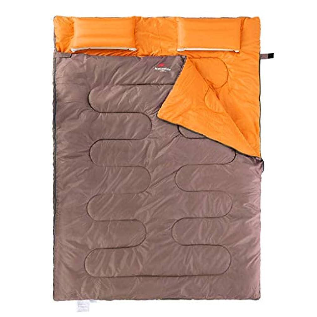 ミットの中でレッドデート取り外し可能な寝袋ダブル人屋外キャンプテント4シーズン綿大人