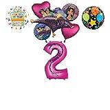 Mayflower Products アラジン 2歳の誕生日パーティー用品 プリンセス ジャスミン バルーンブーケ デコレーション - ピンクナンバー2