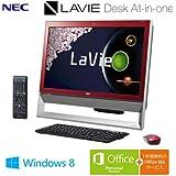 日本電気 LaVie Desk All-in-one - DA370/AAR クランベリーレッド PC-DA370AAR