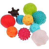 Baosity 赤ちゃん 子供 ベビー カラーボール おもちゃボール 握って学ぼう 凹凸ボール 教育玩具  10個セット