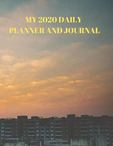 MY 2020 DAILY PLANNER AND JOURNAL: An easy to use carefully designed DAILY 2020 PLANNER AND JOURNAL setup with 2 pages per week divided into 7 day areas and a longer note frame to fill with your greatest thoughts and plans! The Planner is backpack size