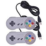 任天堂SNESゲーム用 USBレトロクラシック ゲームパッド ジョイパッド コントローラ PC/MAC 8ボタン