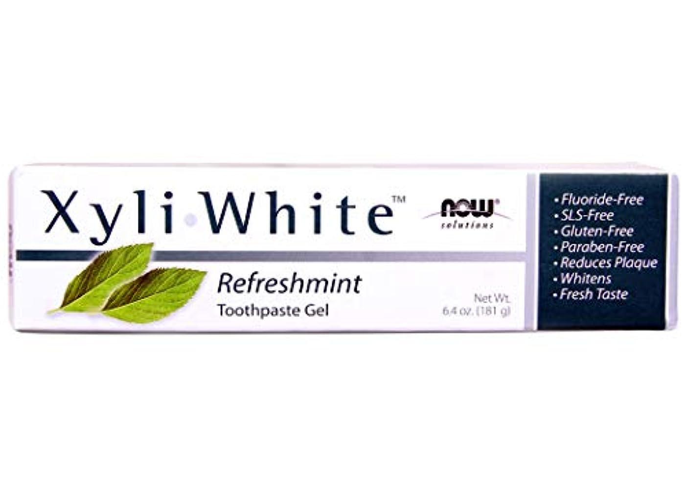 レビューリアルポンド[海外直送品] ナウフーズ キシリホワイト リフレッシュミント歯磨きジェル 181g