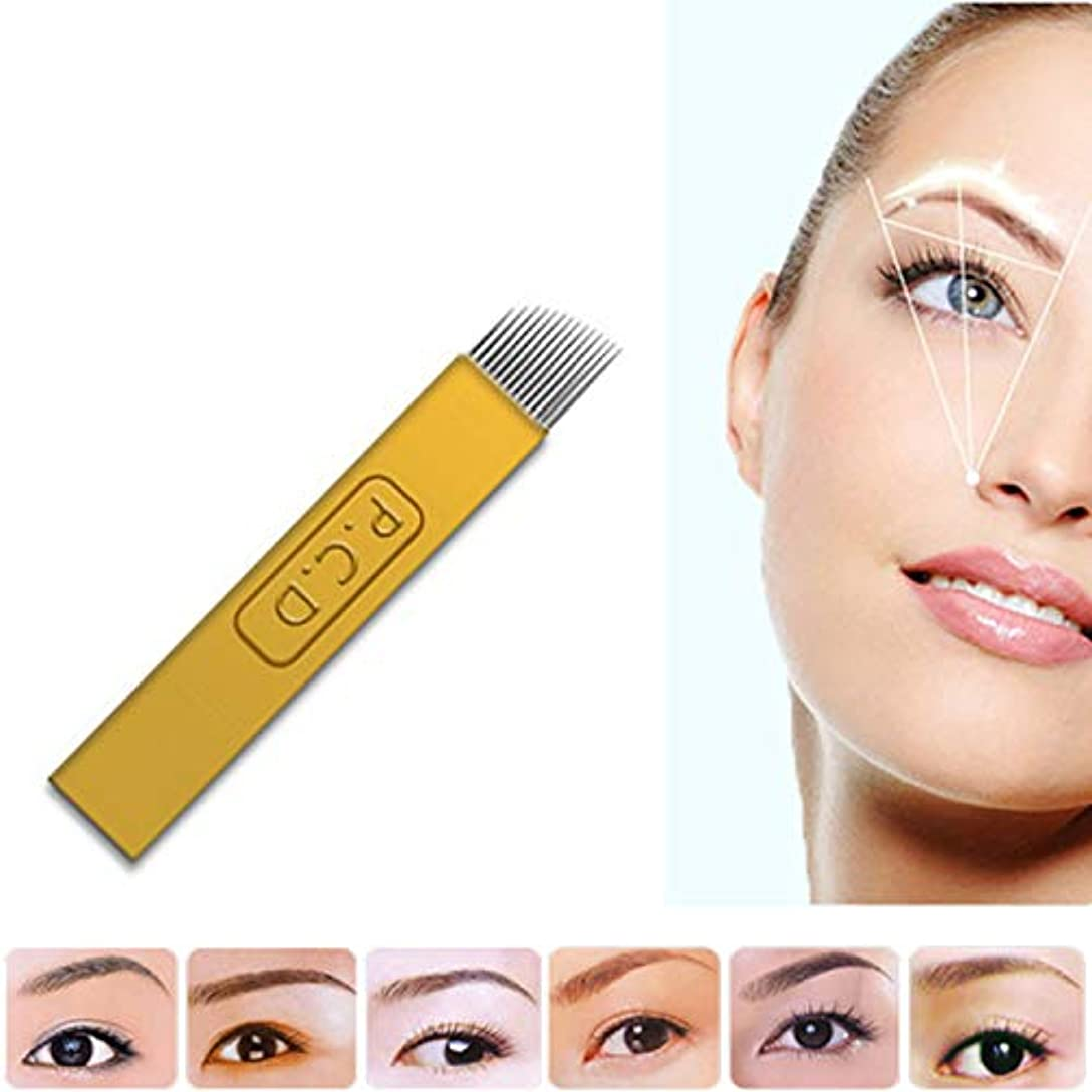 エゴイズム不承認することになっている眉毛美容メイクアップツール、50個/パッ (14PCD)