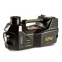 QL カージャック カージャック、多機能12ボルト車電気油圧ジャッキ車車オフロードSUVエアポンプ水平タイヤ変更アーティファクト 自動車用タイヤ交換工具 (Color : Black)