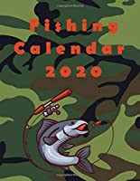 "Fishing Calendar 2020: Daily Planner  I 8,5"" x 11"" I Creme Pages I Matt I 365 Days I January - December"