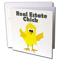 オールスマイルズアートファニー–Funny Real Estate Chick Cartoon–グリーティングカード Set of 12 Greeting Cards