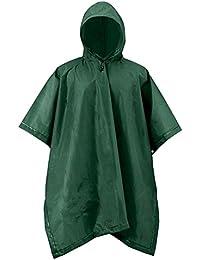 ShedRainスポーツユーティリティ大人用メンズグリーン雨Essentialsポンチョ