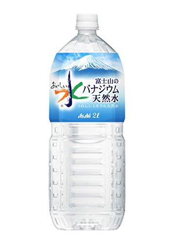 [訳あり(賞味期限 2018年9月9日)]アサヒ おいしい水 富士山のバナジウム天然水 PET 2000ml×6本