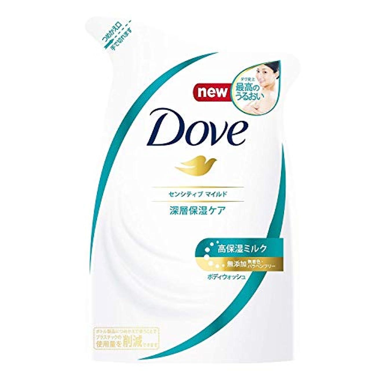 仕方間違い文化Dove ダヴ ボディウォッシュ センシティブマイルド つめかえ用 360g × 12点