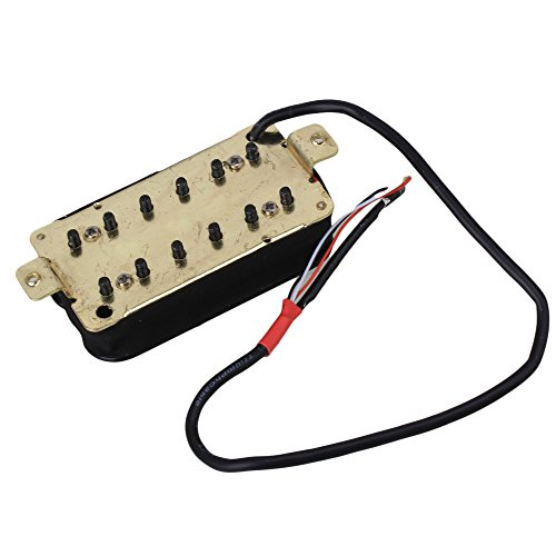 Yibuy 一対 黒 一般的な二重コイル メタル エレキギター ピックアップ ハムバッカー