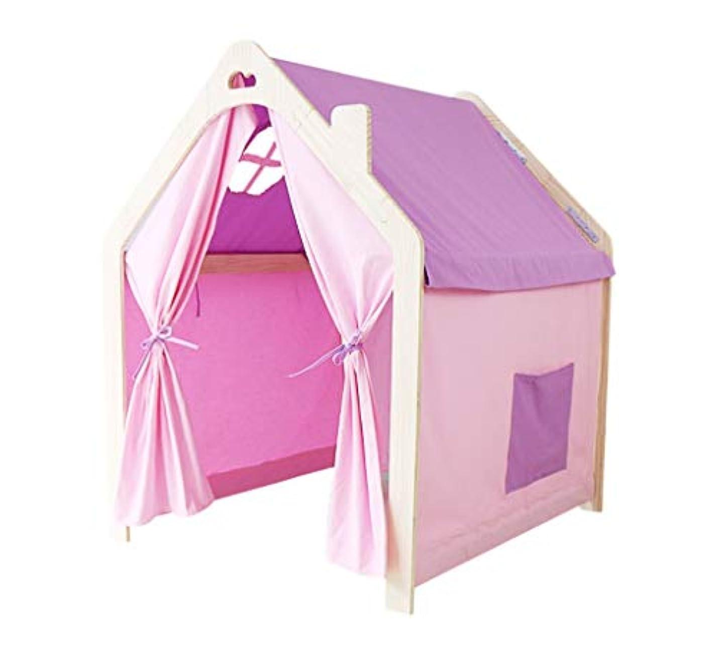 立ち向かうすぐにミュージカルゲームハウスのテント、会議室、おもちゃの部屋、赤ちゃんのゲーム室、ゲーム室、男の子と女の子の読書コーナー写真セット90 * 95 * 114 CM (Color : Pink, Size : M)