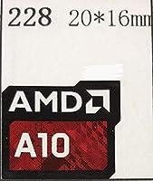 ■【AMD A10】エンブレムシール 20*16mm