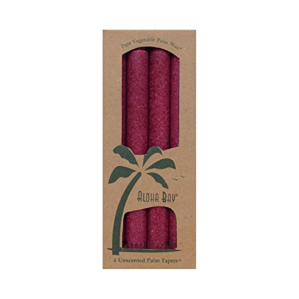 と組む時期尚早政権Aloha Bay Palm Tapers Burgundy - 4 Candles