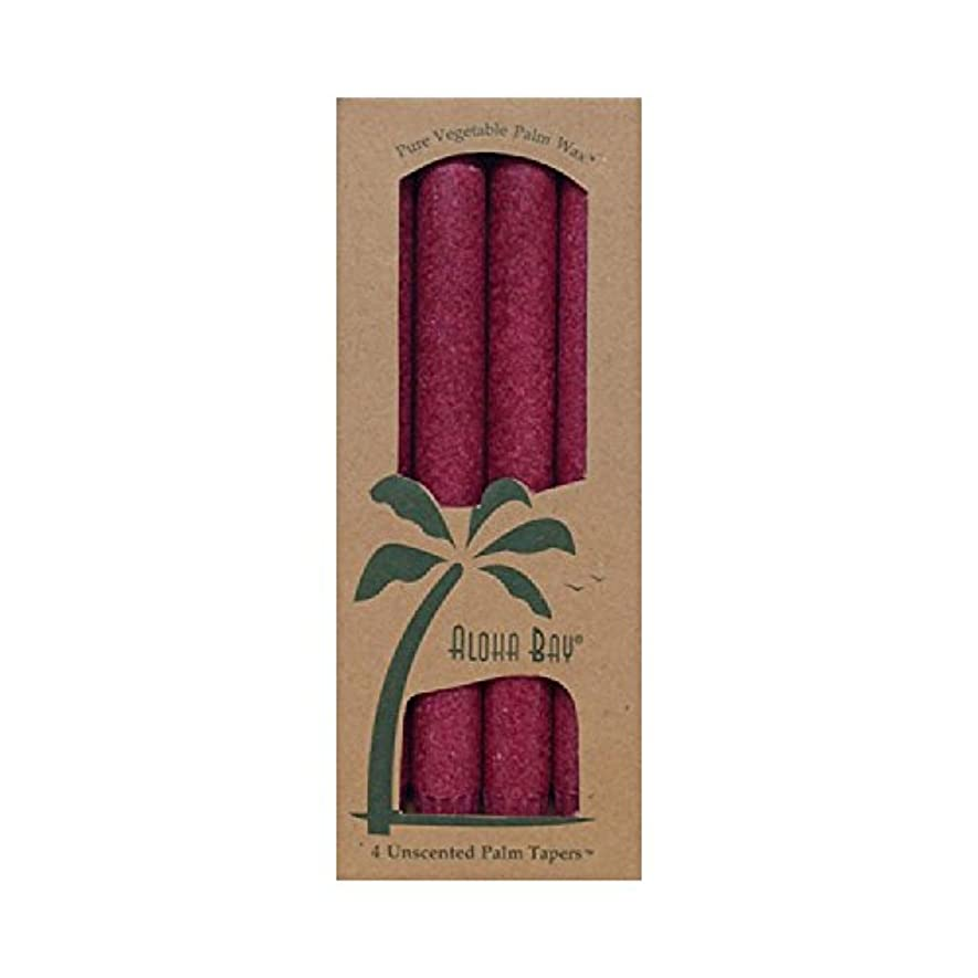 マーガレットミッチェルかんがい暴露Aloha Bay Palm Tapers Burgundy - 4 Candles