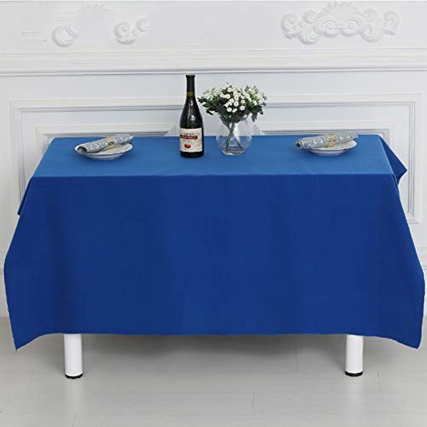 特派員靴プレフィックス無地ポリエステル テーブル クロス,頑丈な防水こぼれ防止 テーブルカバー 長方形の太さ テーブル プロテクター-ロイヤルブルー 100x150cm