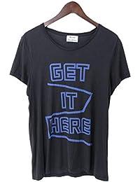 (アクネストゥディオズ) ACNE STUDIOS フロントプリントTシャツ(S/ブラック×ブルー) 中古