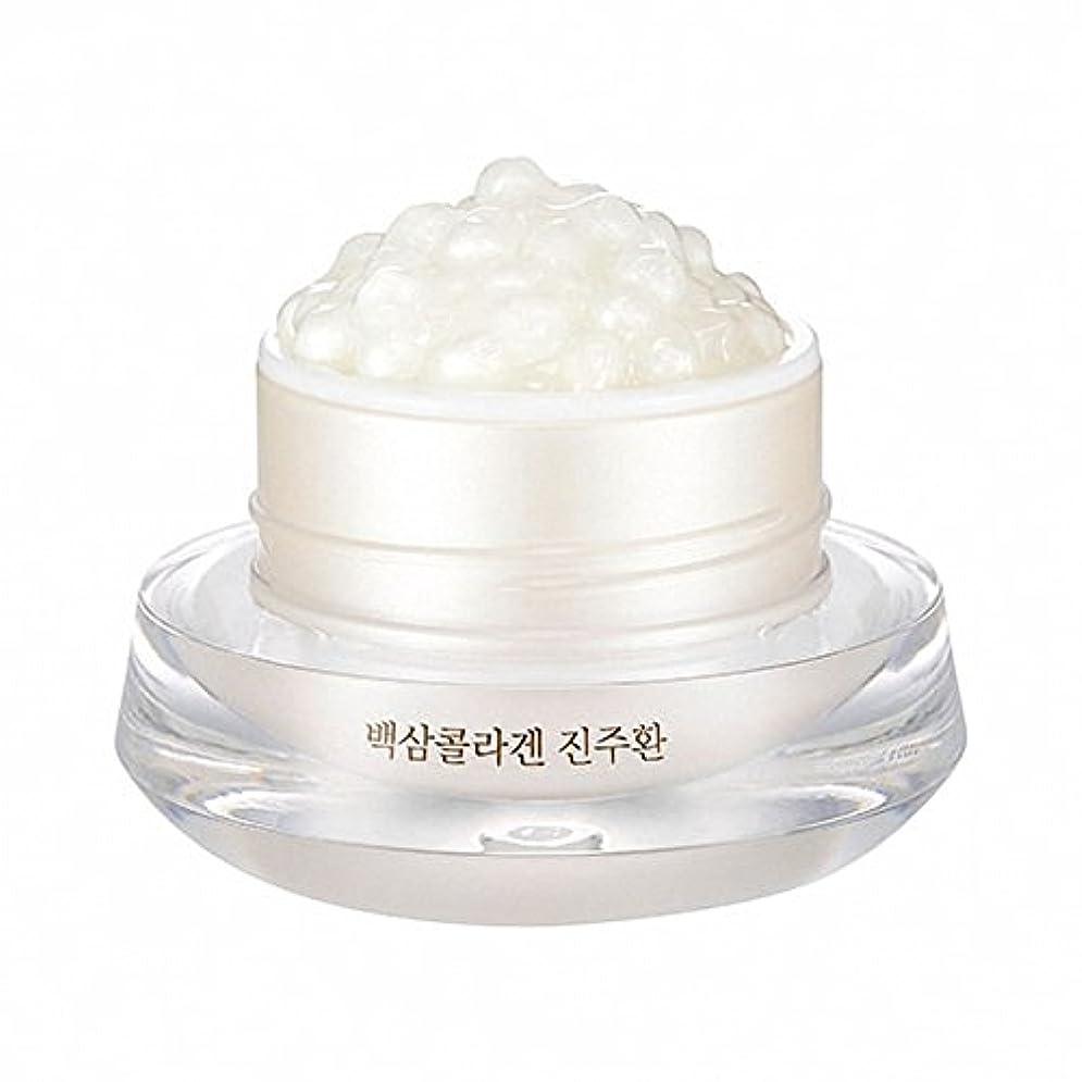 スポット月未就学(ザフェイスショップ) THE FACE SHOP WHITE GINSENG COLLAGEN PEARL CAPSULE CREAM 白参 コラーゲン パール カプセル (韓国直発送) UENMI