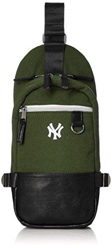 [メジャーリーグベースボール] ボディバッグ ショルダーバッグ ヤンキース 刺繍 ロゴ ワンポイント YK-BY09 カーキ