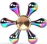 ハンドスピナー 指スピナー Innoo Tech Hand spinner? 高速回転 亜鉛合金製 水道 虹色 6枚翼 3-5分回転可 ストレス解消 暇つぶし 大人気おもちゃ 大人子供に適用玩具