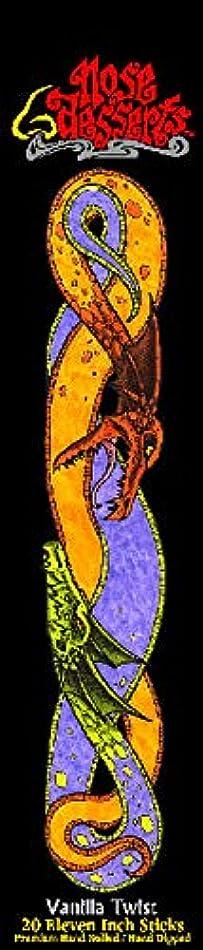 水銀のエネルギー鬼ごっこNose Desserts バニラの香り ブランドスティック香 11インチスティック20本 カラーパッケージ 1パック