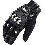 Eynpire Alloy Steel Knuckle Motorcycle Motorbike Powersports Racing Tactical Paintball Gloves Black
