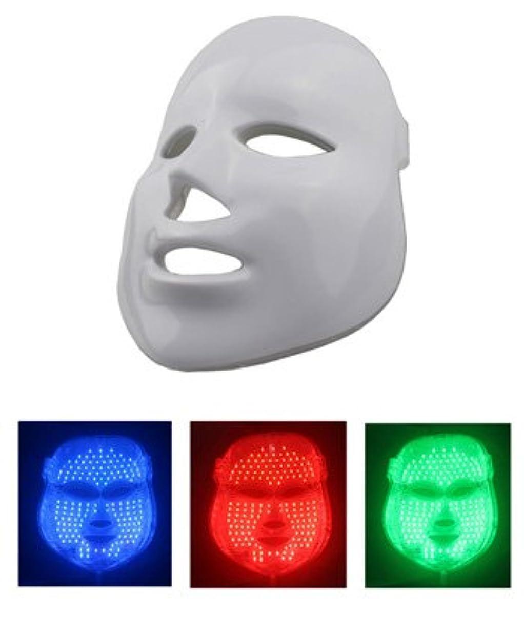 経済オゾンスキャンダル美顔 LEDマスク LED美顔器 三色モデル