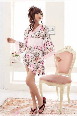 (アメイズ)Amaze 花魁 全4種 コスプレ ドレス 衣装 浴衣 着物 セット (白色)