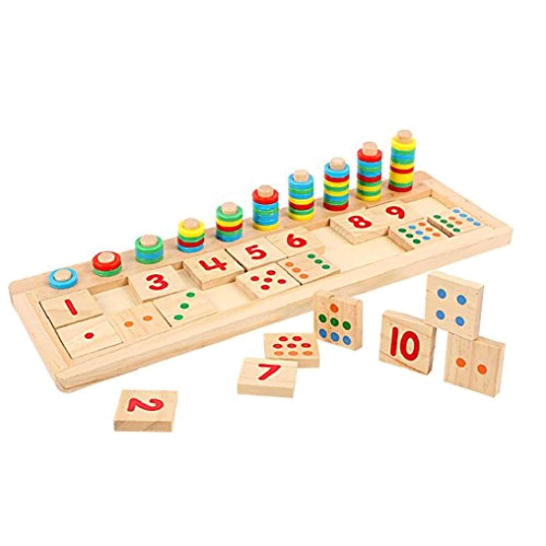 教育玩具数学learningtool cocomarket木製パズルToy