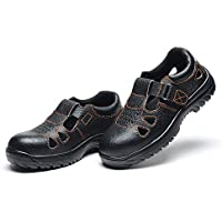 JIUZHOUTONG Summer Sandal Safety Shoes Smash-Proof Penetration-Resistant 041