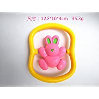 RaiFu ラトル ベビー ラットルシェーカー グラブとスピン ミュージカル 玩具 早期教育玩具 1PC ウサギを回転させる