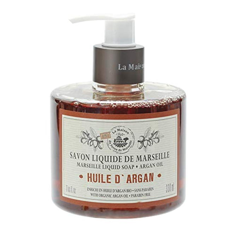 歴史家偽善反逆ノルコーポレーション マルセイユ石鹸 リキッドソープ 330ml アルガンオイルの香り MLL-1-5